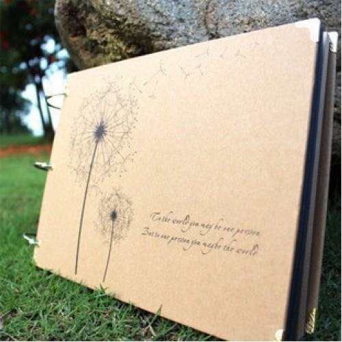 10 Inch DIY Album Dandelion Series DIY AlbumDiy Handmade Photo Albums for Lover Baby Wedding Stickers