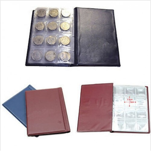 120 Pockets Coins Album Collection Book Mini Penny Coin Storage Album Book Collecting Coin Holders for