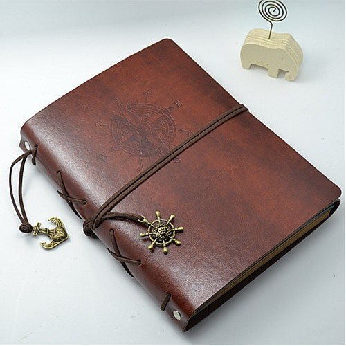 Leather Vintage Handmade DIY Photo Album Kraft Scrapbooking Book Couples Creative
