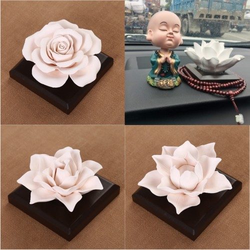 Ceramic Rose Flower Essential Oils Scent Diffuser Air Freshener Home Fragrance Scents Accessories Decor