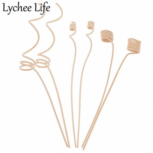 Lychee Life 10pcs Reed Diffuser Replacement Stick Wood Rattan Reeds Through Flowers Diffusers Accessories Modern DIY