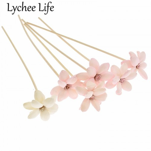 Lychee Life 5pcs 3mm Reed Diffuser Replacement Stick Water Lily Rattan Reed Oil Diffuser Refill Stick