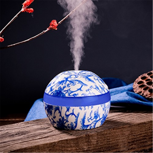 Reed Diffuser Sets Humidifier Blue And White Porcelain Home Aroma LED Humidifier Air Diffuser Purifier Office
