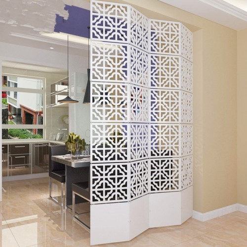 6PCS LOT 29 29CM Room Divider Screen Partition Modern Biombo Folding Screen Partition Brief Hanging Cutout