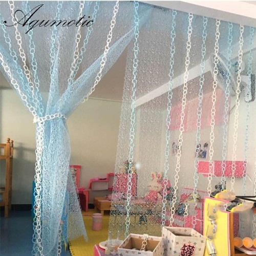 Aqumotic Fabric Room Divider Colorful 450cm Hollow Partition Wall Decorative Home Indoor Room Split Wall Curtain