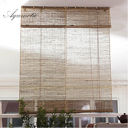 Aqumotic Vintage Screen for The Room Divider Wall Long Natural Retro Curtain Ramie Room Split Light