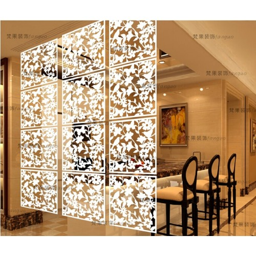 Entranceway Hanging PVC carved Cutout Carving room divider screen partition wall biombo room Dividers Partitions 8pcs