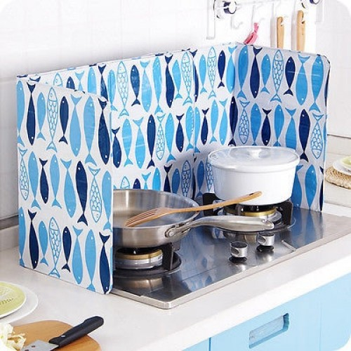 Kitchen Cooking Frying Pan Oil Splash Screen Cover Anti Splatter Shield Guard Oil Divider