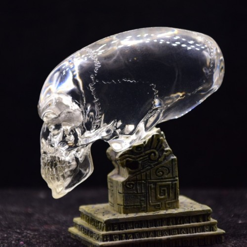 10cm white transparent glass carved aliens skull healing family crafts mold for artificial stone prices