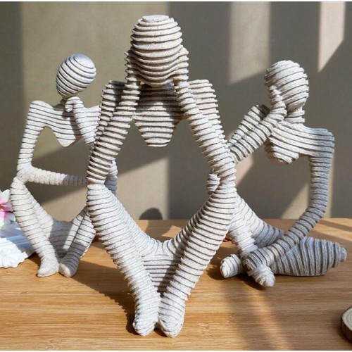 Abstract Character Decoration North European Creative Home Ornament Drawing Room Office Sandstone Decor statue Sculpture