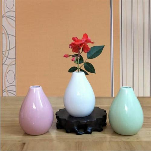 Pure color ceramic vase desktop decoration 1pc pot 7 5cm height 5 5cm max diameter