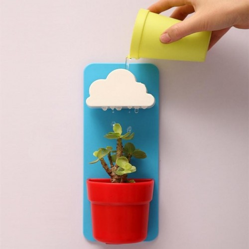 SOLEDI New fashion DIY Creative planting Cloud Hanging Rainy Day Terrace Decoration Flower Pots vasos para.