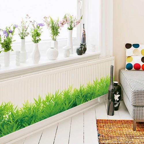 Baseboard Green grass waterproof DIY Removable Art Vinyl Wall Stickers Decor Living room