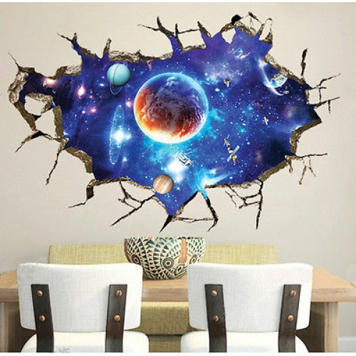 galaxy planet space wall sticker for kids boys bedroom toy story smashed wall sticker bedroom boys disney vinyl