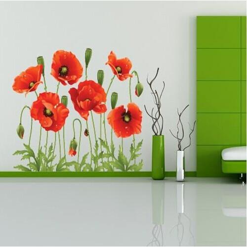 Home Decor Art Flower Vinyl Mural Wall Sticker