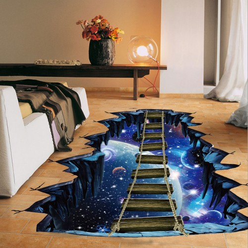 NEW Large 3d Cosmic Space Wall Sticker Galaxy Star Bridge Home Decoration for Kids Room Floor