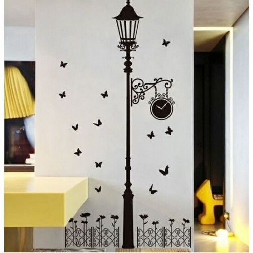 New removable vinyl wall stickers Street lamps