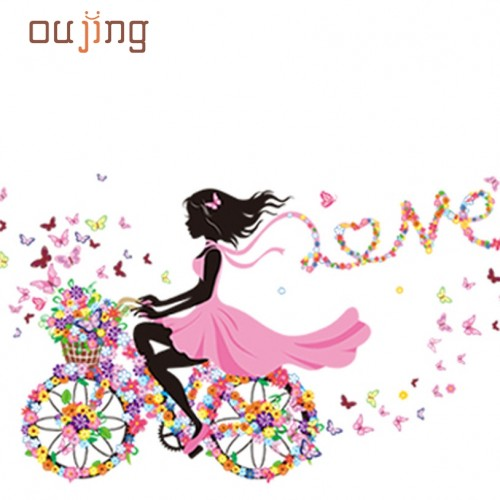 Wall Decor lovely Girl Art Wall Stickers For Kids Rooms