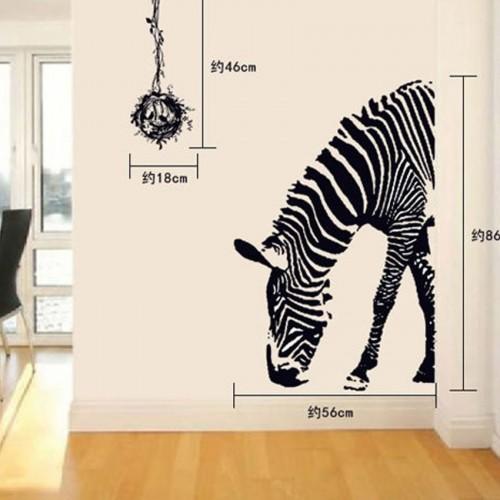 Zebra Muursticker Adesivo De Parede DIY Wall Stickers