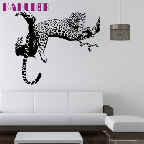 wall stickers for kids rooms decals home decor Leopard Wall Sticker