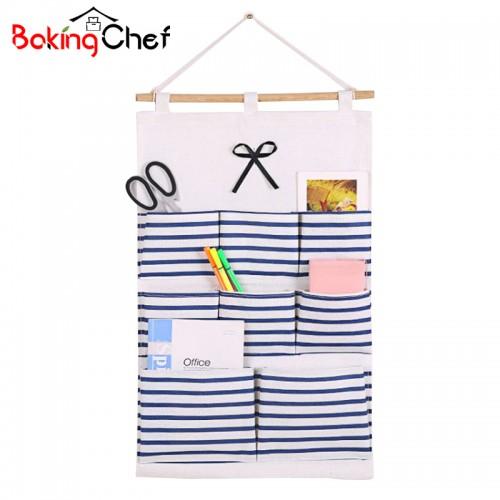 Cotton Navy Style Hanging Organizer Wall Storage Bag Sundries Holder Home Organizer Accessories Supplies Gear Stuff