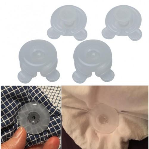 4 Pcs Blankets Quilt Clip Fixer Durable plastic Leaf Comforter Bed Duvet Donuts Holders JUNE5