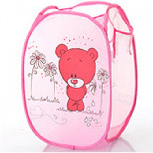 Cartoon Animal Foldable Pop Up Washing Clothes Laundry Basket Bag Bin Hamper Mesh Storage P47