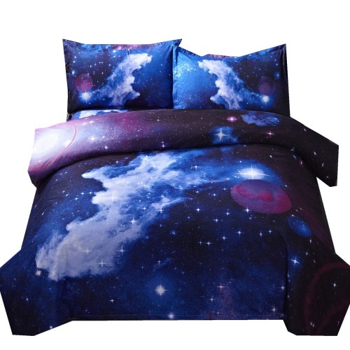 3d Galaxy Duvet Cover Set Single double Twin Queen 2pcs 3pcs 4pcs bedding sets Universe Outer