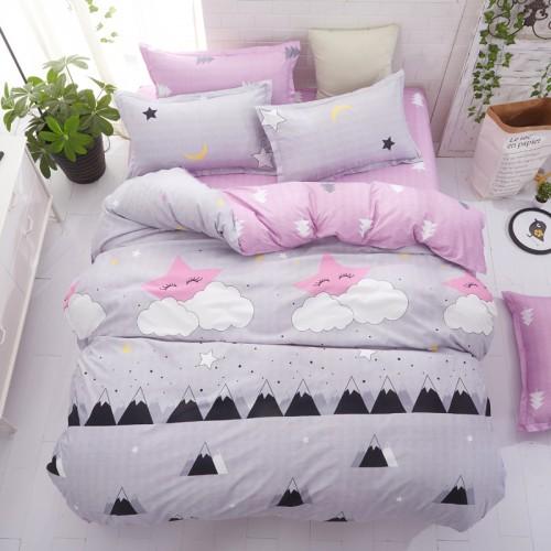 Grey bedding set summer bed linens 3 or 4pcs set duvet cover set Pastoral bed