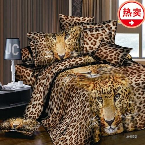 New 3D Print Leopard Tiger Rose Lion Flower Soft Bedding Sets Duvet Cover Bed Set Pillowcase