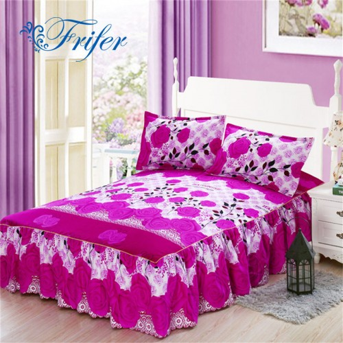 New Style Sanding Thickened Bed Skirt Dual Layers Bed Cover Fitted Sheet Queen Bed Skirt Dust 18.45$