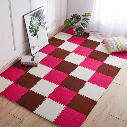 1pc 30 30cm Living Room bedroom Children Kids Soft Carpet Magic Patchwork Jigsaw Splice