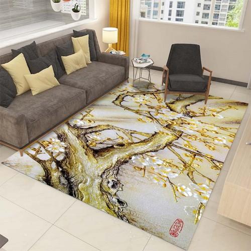 3D Printing Rectangle Carpet Hallway Doormat Anti Slip Bathroom Carpets Kids Room Absorb Water