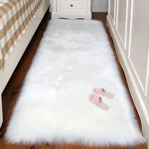 Artificial Wool Carpet Rectangle Square garnish Faux Mat Seat Pad Plain Skin Fur Plain Fluffy Area