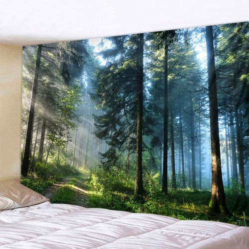 Beautiful Natural Forest Printed Large Wall Tapestry Cheap Hippie Wall Hanging Bohemian Wall Tapestries Mandala