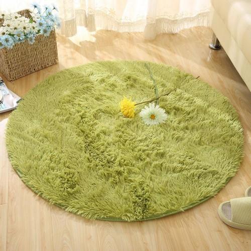 Fluffy Round Rug Carpets for Living Room Kilim Faux Fur Carpet Kids Room Long Plush rugs