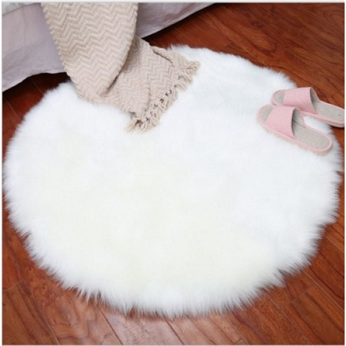 Soft Artificial Sheepskin Rug Chair Cover Bedroom Mat Artificial Wool Warm Hairy Carpet Seat Wool Warm