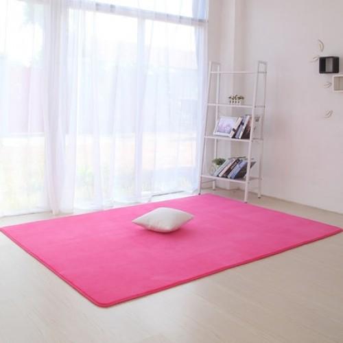 Thickened coral velvet plain carpet non slip rug living room pad coffee table blanket bedroom cushion