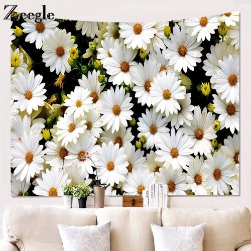 Zeegle Flower Printed Mandala Beach Towel Home Decor Wall Hanging Tapestry Bedspread Table Cloth Yoga Mats