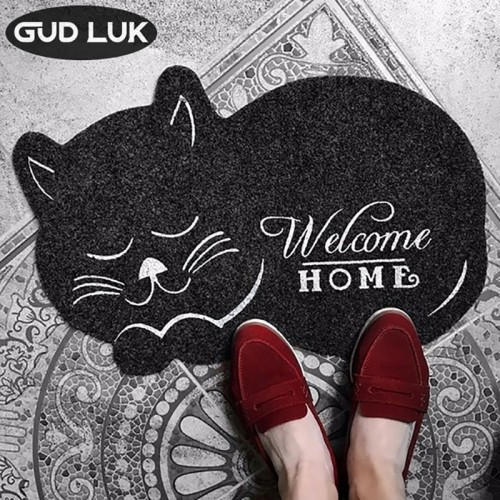 cat shape Door Mat 38 58cm Anti slip Floormat Kitchen Carpet Toilet Tapete Water Absorption Rug