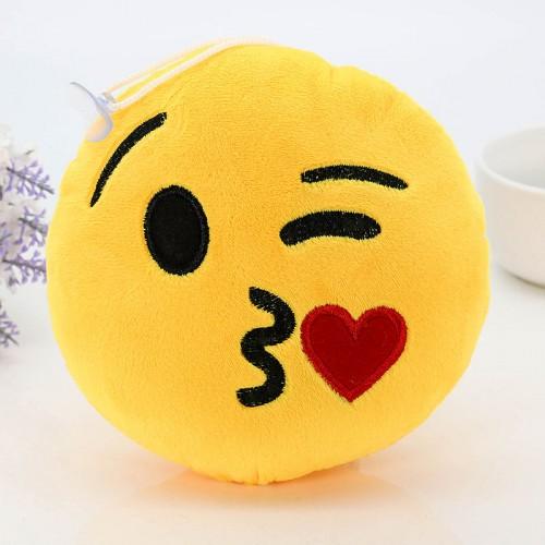 8 Styles Soft Emoji Cute Cushions Pillows QQ Facial Emotions Pillow Yellow Round Cushion Stuffed Plush