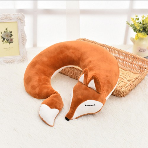 Animal bonito Travesseiro de Viagem Criativa Forma de U Neck Pillow PP Cotton Confort vel Cuidados