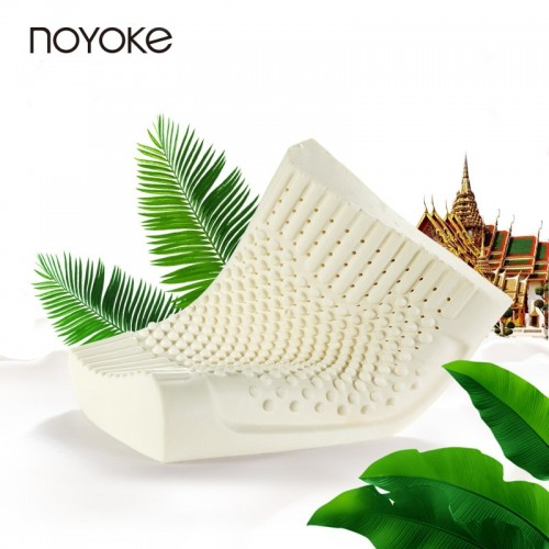 NOYOKE Thailand Import Natural Latex Cervical Pillow Neck Protection Pillows for Sleeping Orthopedic Pillow with Pillowcase