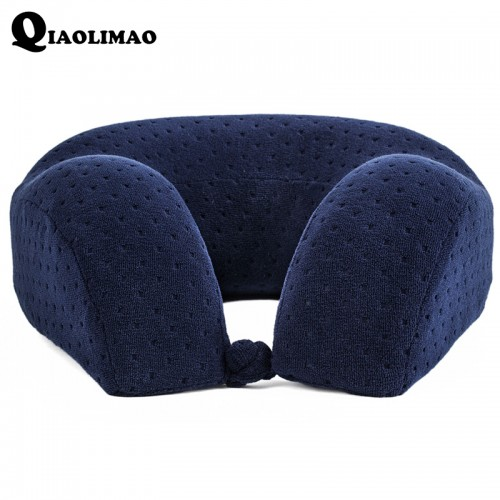 New U Shaped Memory Foam Neck Pillows Soft Slow Rebound Space Travel Pillow Solid Neck Cervical