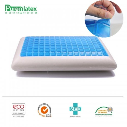 PurenLatex 60 40 12 Silicone Gel Memory Foam Summer Cool Pillow Spondylosis and Eczema Prevented