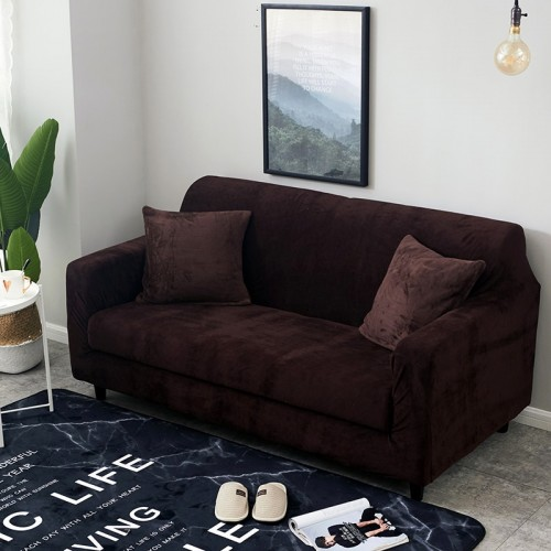 1pc Plush Thicken Universal Sofa Cover All inclusive Elastic Sectional Couch Cover Anti dirty Sofa Covers