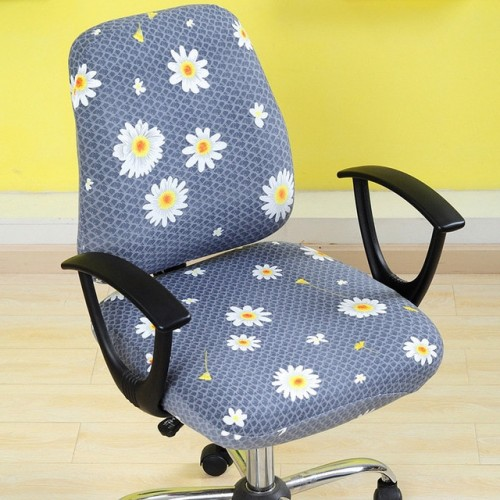 2pcs set Universal Elastic Spandex Fabric Split Chair Back Cover Seat Cover Anti dirty Office Computer