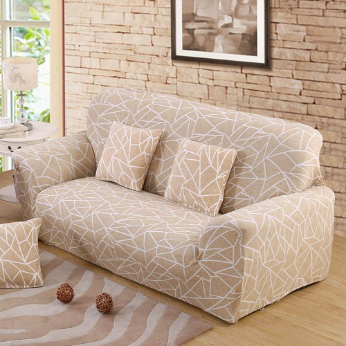 Beige Sofa Cover Stretch Furniture Covers Elastic Sofa Covers For living Room Copridivano Slipcovers for Armchairsc