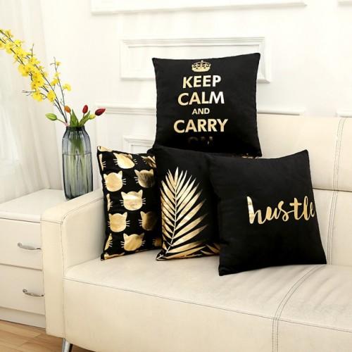 Bronzing cushion cover cushion decorative cushions home decor throw pillows chair almofadas para sofa pillowcase cover
