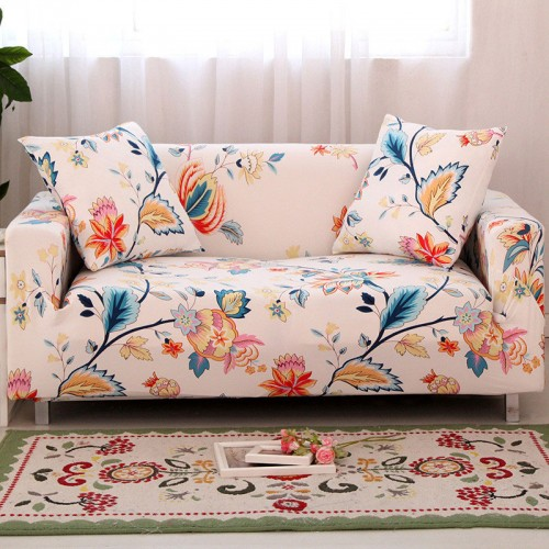 Flower Slipcover Sofa Cover Tightly All inclusive Wrap single double three four Seat Sofa Cover Elasticity